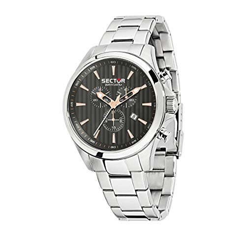 Sector No Limits Montre pour Homme, Collection Sector 180, Mouvement à Quartz, chronographe, en Acier Inoxydable - R3273690014