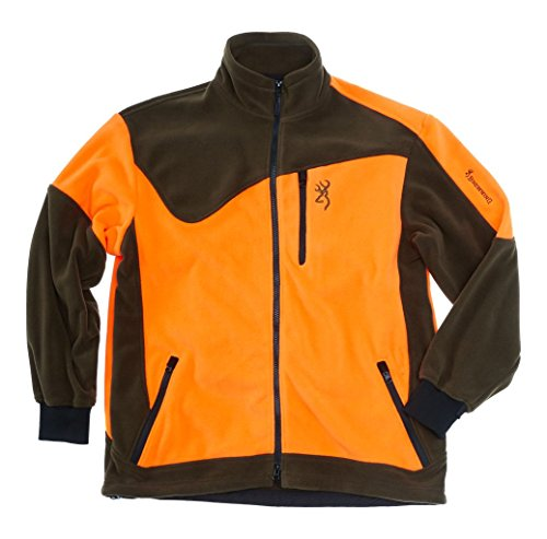Browning Jagdjacke Härkila Powerfleece One grün/orange, Camouflage-Design
