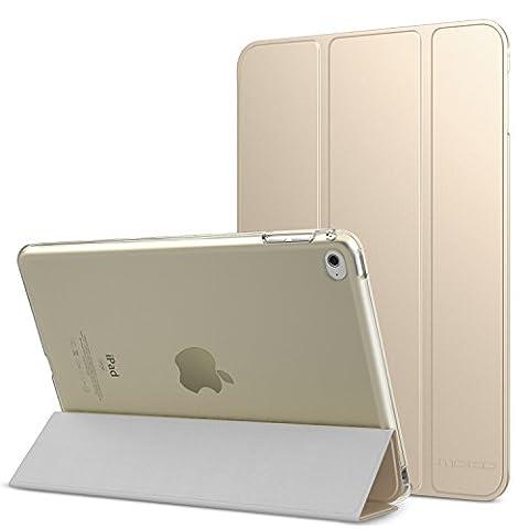 MoKo Hülle für iPad Mini 4 - PU Leder Tasche Schutzhülle Schale Smart Case mit Translucent Rücken Deckel, mit Auto Schlaf / Wach Funktion und Stanfunktion für Apple iPad Mini 4 2015 Genaration 7.9 Zoll IOS Tablet, (Apple Tablet Ipad Mini)