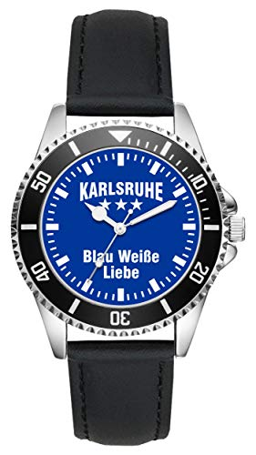 Karlsruhe Geschenk Artikel Idee Fan Uhr L-6031