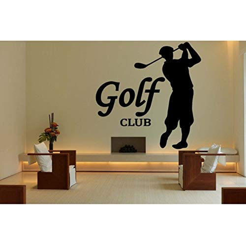 Wandtattoo Vinyl Kunst Abnehmbare Aufkleber Home Decor Golf Sport Logo Club Diy Wandbild Poster 57X58Cm