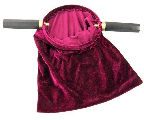 Cb-handle (Velvet Church Tithe Offering Bag with Wooden Handles, Maroon, 11 1/4 Inch by CB)