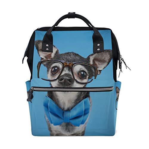 Nette Chihuahua Hund Tier Große Kapazität Wickeltaschen Mama Rucksack Multi Funktionen Windel Pflegetasche Tote Handtasche Für Kinder Babypflege Reise Täglichen - Große Rasse Hunde Kostüm