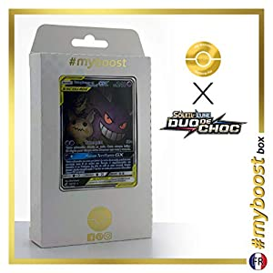 Ectoplasma et Mimiqui-GX (Gengar y Mimikyu-GX) 165/181 Full Art Alternativo - #myboost X Soleil & Lune 9 Duo de Choc - Box de 10 Cartas Pokémon Francés