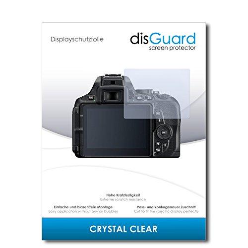 disGuard® Displayschutzfolie [Crystal Clear] kompatibel mit Nikon D5600 [2 Stück] Kristallklar, Transparent, Unsichtbar, Extrem Kratzfest, Anti-Fingerabdruck - Panzerglas Folie, Schutzfolie