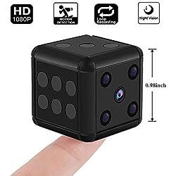 Hankermall Mini Caméra Espion Cachée 1080 P HD Nounou Cam Vision Nocturne Détection de Mouvement Portable FOV 90 Degrés Sport Caméra Mini DV Enregistreur Vidéo pour Intérieur ou Extérieur
