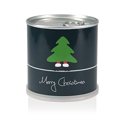 MacFlowers Weihnachtsbaum in der Dose - Merry Christmas Grün