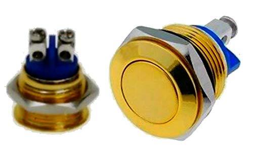 KFZ Start / Hupe Hupenknopf Taste Knopf Hupen zb für Traktor Bautz Holder Fendt Eicher mc cormick Unimog Agria Einachser Farbe gold
