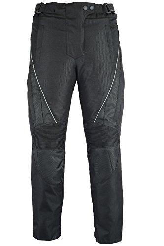 Australian Bikers Gear JAZZ Black CE armoured Vented Ladies Cordura Waterproof Trousers (W32