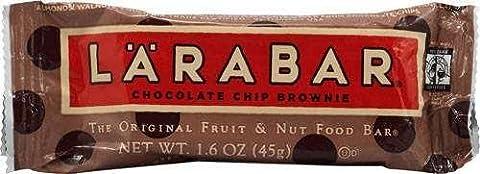 Chocolate Chip Brownie, 16 Bars, 1.6 oz (45 g) Each by Larabar