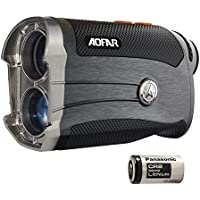 AOFAR G2 Golf Rangefinder- Two Decimal Places 6x Waterproof Laser Range Finder with Slope, Pulse Vibration, Carrying Case, Free Panasonic Battery, Gift Packaging