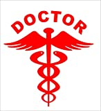 #6: isee360 2 Nos Reflective Red Doctor Decal / Dye cut Water resistance Sticker For Any Car