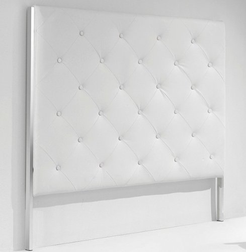 Adec - Cabezal capitone, medidas 160 x 4 x 140 cm, color blanco