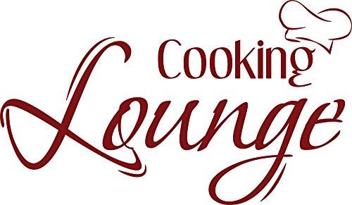 GRAZDesign 620540_30_030 Wandtattoo für Küche | Wand-Spruch cooking lounge | Küchen-Sprüche für...