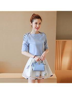 La versión coreana de la elegante falda falda corta paquete Kit Fung brazo,L,el color de la imagen
