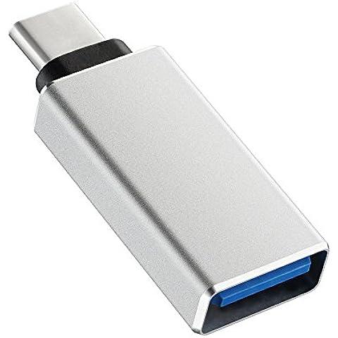 USB 3.1 Tipo C a USB 3.0/2.0 de VicTsing, adaptador convertidor de Tipo C a USB 3.0,USB 2.0 con OTG para Apple 2015 12-Inch Retina MacBook, Google Chromebook Pixel, ZUK Z1, Mi 4C, Nokia N1, Google Nexus5x Nexus6P, Microsoft Lumia950 Lumia950XL