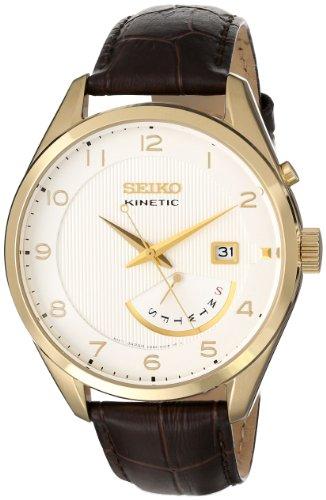 Seiko-SRN052-Reloj-para-hombres-correa-de-piel-de-borrego-color-marrn