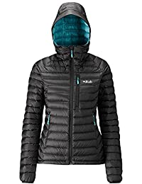 RAB WOMENS MICROLIGHT ALPINE JACKET BLACK SEAGLASS (SIZE UK 14) 787358451db8