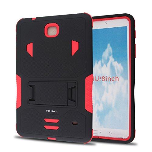 iRHINO Samsung Galaxy Tab 420,3cm/20,3cm (SM-T330) Heavy Duty Armor Rugged Hybrid Schutzhülle Cover Case, Schwarz auf Rot (Otterbox Note Mit 4 Galaxy)