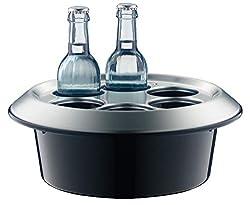 alfi 0360.020.000 Aktiv-Flaschenkühler Konferenzboy, Kunststoff schwarz, für 6 Flaschen bis 0,33 l