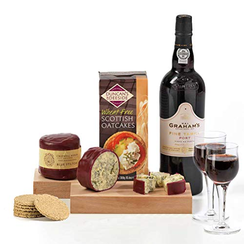 Hay Hampers Tawny Port, Stilton & Crackers Christmas Hamper Gift Box - FREE UK Delivery