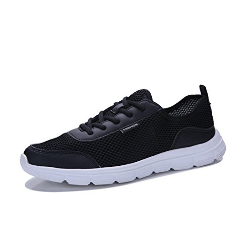 Men's Summer Running Shoes Breathable Non-Slip Flat Shoes Canvas Shoes Large Size Casual Shoes 36-48,Black,42 (Non-slip-kleid-schuhe Herren Für)