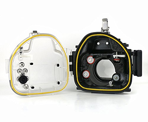 Compare Prices for CameraPlus – High Performance Underwater Case Camera Housing Diving for Canon EOS M with 18-55mm Lens – Up To 40 Meters(130ft.) on Line