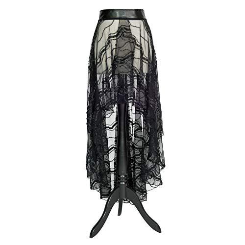 SiaLinda: Rock Oceana X, schwarz, Tüll, vorne und hinten geschlitzt, O, - Geschichte Der O Kostüm