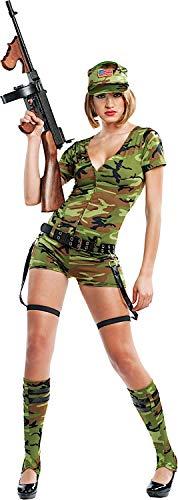 Veneziano Carnevale Venizano CAV53143-XL - Erwachsenenkostüm Lady Commando - Größe: XL (Commando Mädchen Kostüm)