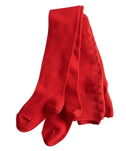 FALKE Babys Strumpfhosen / Leggings Family - 1 Paar, Gr. 62-68, rot, blickdicht, Baumwolle Komfortbündchen, hautfreundlich, Mädchen Jungen -