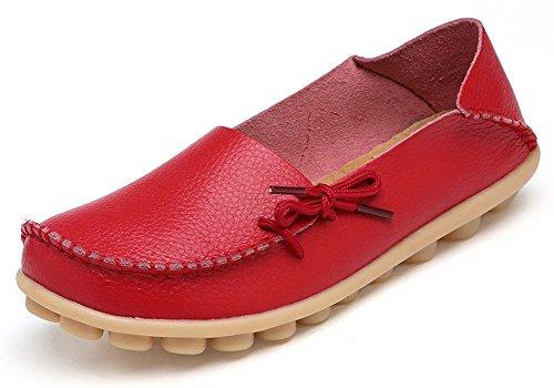Eagsouni Damen Mokassins Bootsschuhe Leder Loafers Freizeit Schuhe Flache Fahren Halbschuhe Slippers (Loafer Mokassins Für Frauen)