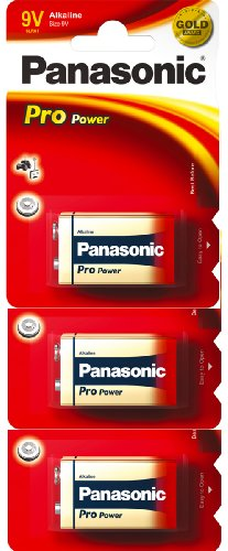 Panasonic 6LR61PPG  Pro Power Gold Alkaline-Batterien (9 V), 3er-Pack Alkaline Backup-batterie