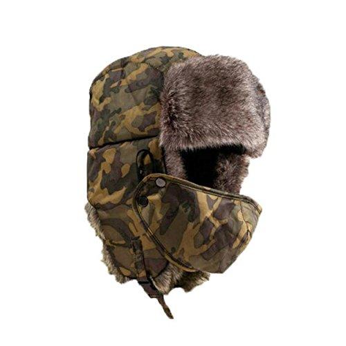 Sombrero grueso invierno máscara unisex