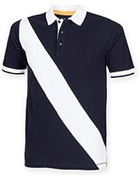 Men's Diagonal Stripe House Polo Shirt by Front Row