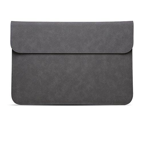 Wildleder wasserdicht Notebook-tasche Mit kleinaufbewahrung pouch case,Portable notebook geschäftsfall kompatibel 12-15.6-zoll-laptop-B 15.6Zoll - Wildleder-laptop-tasche