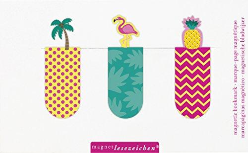 moses. 31115 Magnetlesezeichen Karibik 3er Set, magnetisches Lesezeichen, charmant illustriert