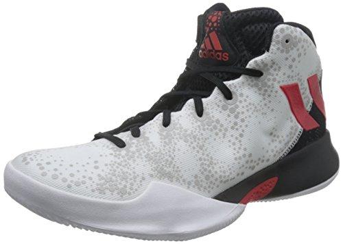 adidas Herren Crazy Heat Basketballschuhe, (Ftwbla/Escarl/Negbas), 43 1/3 EU