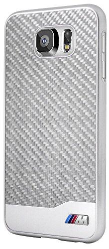 BMW Real Carbon Faser harte Tasche für Samsung Galaxy S6 silber
