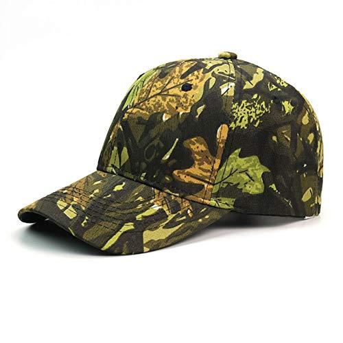 Camouflage Military Style Cap (FXSYL Baseball Cap Outdoor Herren Military Bionic Camouflage Baseball Cap Dschungel Taktische Jagd Hut Für Hunter Baseball Cap Polo Stil Klassische Sport Casual Plain Sonnenhut,C)