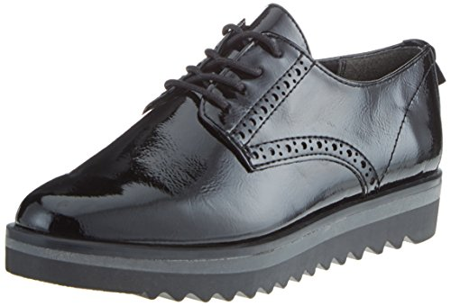 Marco Tozzi Damen 23730 Oxfords, Schwarz (Black Patent), 38 EU