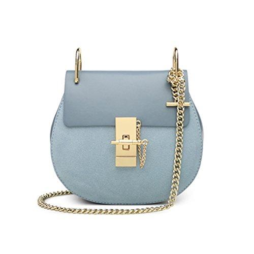 Blu Mini retrò Piccolo nuovo moda tracolla borsa Honeymall Grande catena piccole Marrone spalla stile a diagonali Borsa maialino pepe PcIqBBwTRU