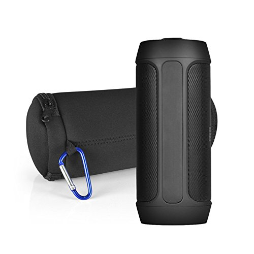 Finoki Bluetooth Lautsprecher Case Lautsprechertasche Lautsprecher-Kasten Schutzhülle Speaker Tragetasche mit Reißverschluss und Karabinerhaken