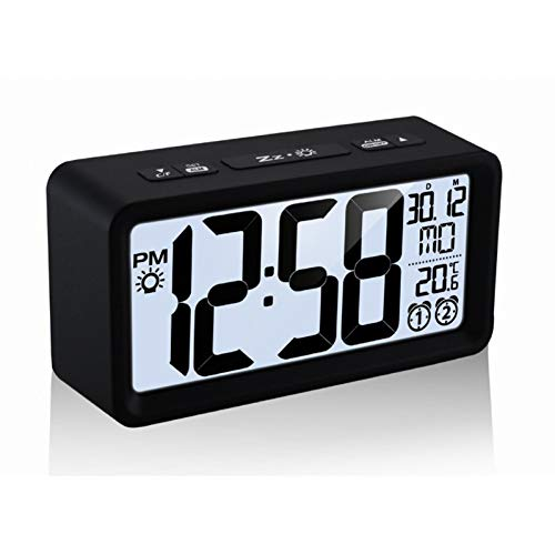 Alarm Clocks Capable Digital Led Display Desktop Digital Table Clocks Mirror Clock Alarm And Snooze Function Indoor Thermometer Light Adjustable Home Long Performance Life