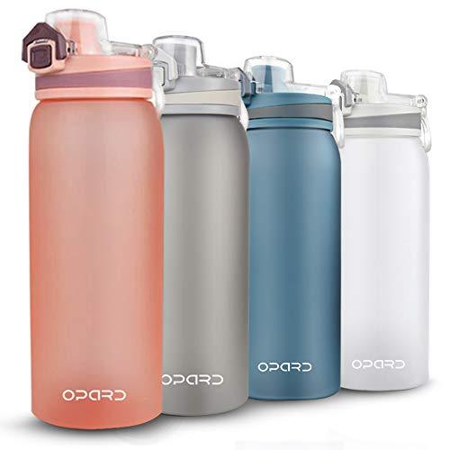 Opard Trinkflasche Sport 900ml-Wasserflasche aus Tritan, BPA-Frei, Auslaufsicher Sportflasche für Kinder, Sport, Fitness, Fahrrad, Fußball, Outdoor (Orange)