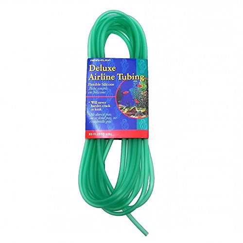 Penn Plax Deluxe Silicone Flexible Airline Tubing for Aquariums, 3/16-Inch