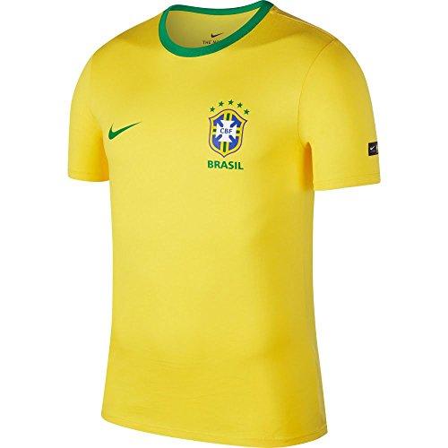 Nike CBF M NK Tee Crest, T-Shirt Herren S Midwest Gold/Lucky Green -