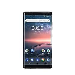 Nokia 8 Sirocco Smartphone (5,5 Zoll QHD Poled, Android 8 Oreo, 128 GB ROM, 6GB RAM, 13 MP Camera, Single Sim, IP67) schwarz