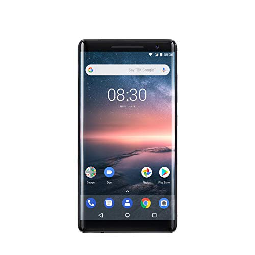 Foto Nokia 8 Sirocco Smartphone, 5.5 OLED, 128 GB ROM, 6 GB RAM, 12 + 13 MP, Single SIM, Android 8 Oreo, Nero