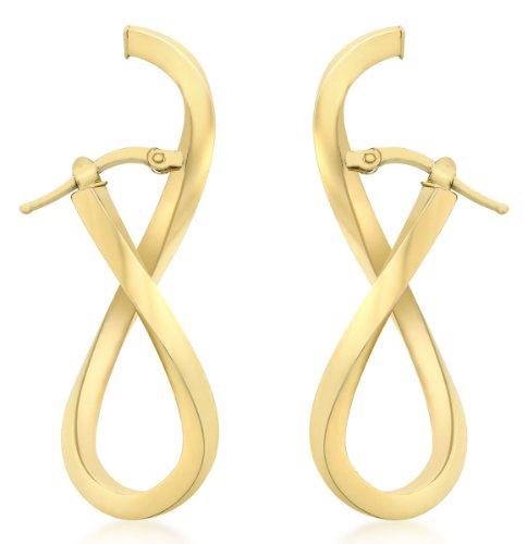 carissima-gold-9ct-yellow-gold-figure-8-wave-creole-earrings