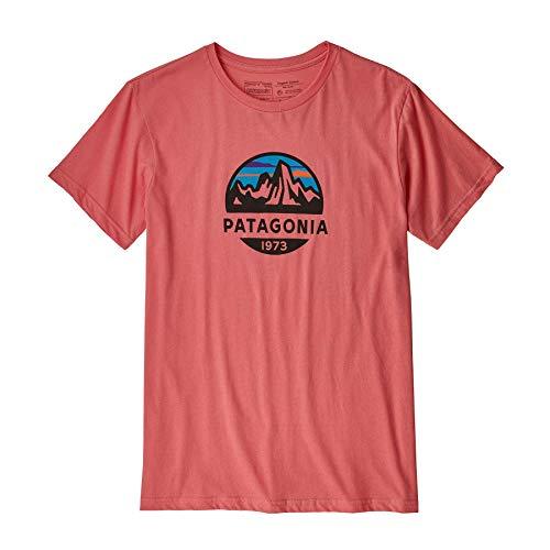 Patagonia Herren M\'s Fitz Roy Scope Organic T-Shirt Hemd, Korallenfarben (Spiced Coral), L